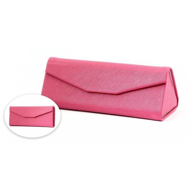 Skládací brýlové pouzdro F510 růžová